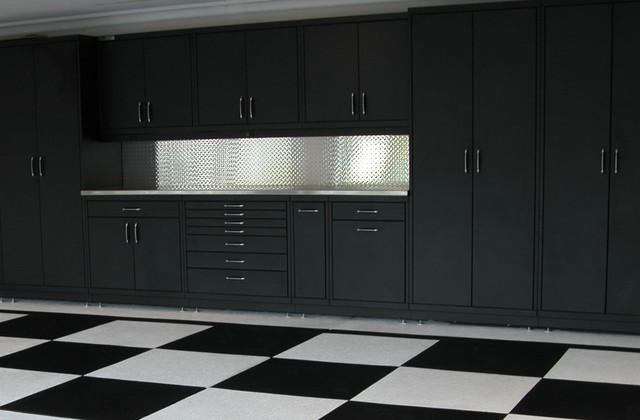 Powder Coated Steel Cabinets Amp Epoxy Checker Board Floor