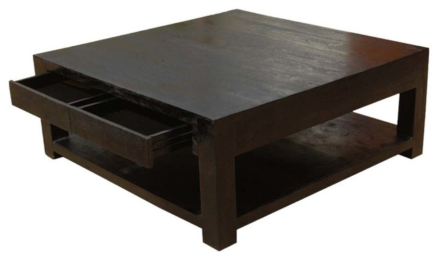 glencoe large square coffee table solid wood contemporary style