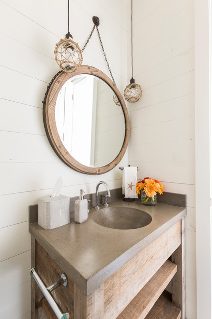 Cozy Beach Retreat beach-style-powder-room