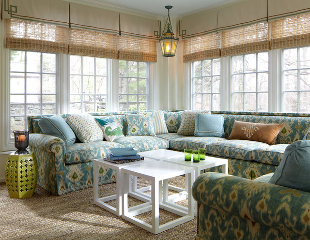 Classic Transitional Traditional Sunroom New York By MICHAEL WHALEY INTERIORS INC