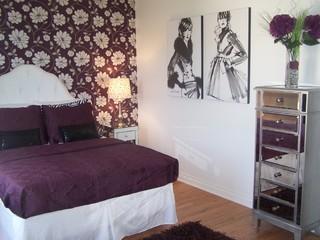 Teen Girl Fashion Bedroom in Plum - Bedroom - Cleveland ... on Teenager Style Teenage Room  id=86573