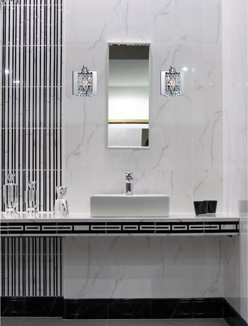 "Optix Collection 1-Light 5"" Polished Chrome Crystal Wall ... on Crystal Bathroom Sconces id=42579"
