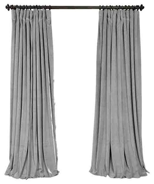 luxury linen curtain panels silver gray set of 2 rod pocket 50 x100