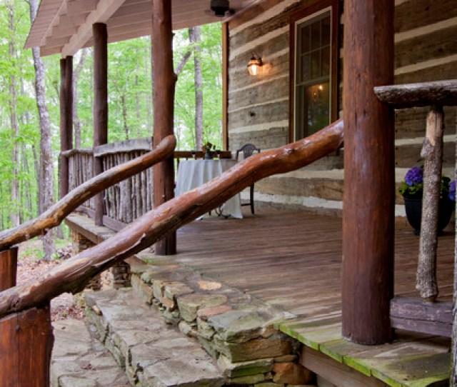 Talking Rock Log Cabin Rustic Porch