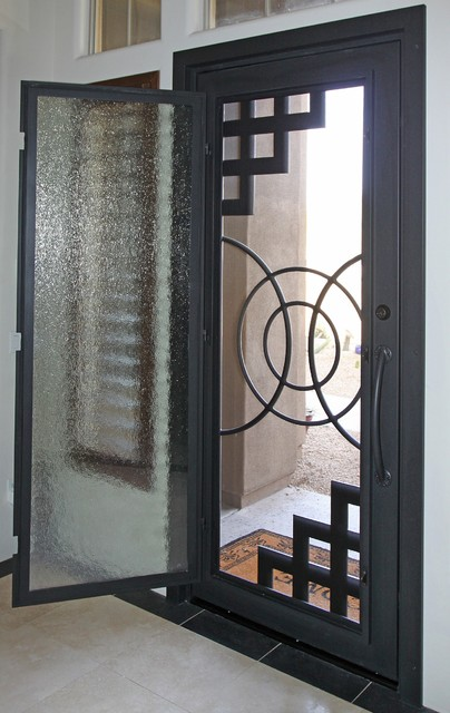 Abstract Iron Entry Door By First Impression Security