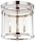 Savoy House Penrose 3-Light Semi-Flush Mount, Polished Nickel