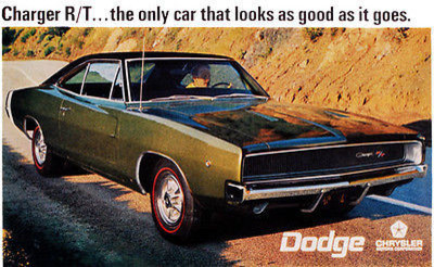 1968 dodge charger r t promotional advertising poster 8 5 x11