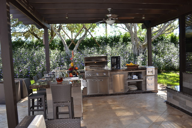 Outdoor Kitchen and pergola Project in South Florida ... on Houzz Backyard Patios  id=79800