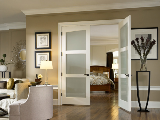 glass doors - traditional - bedroom - orange county - by interior