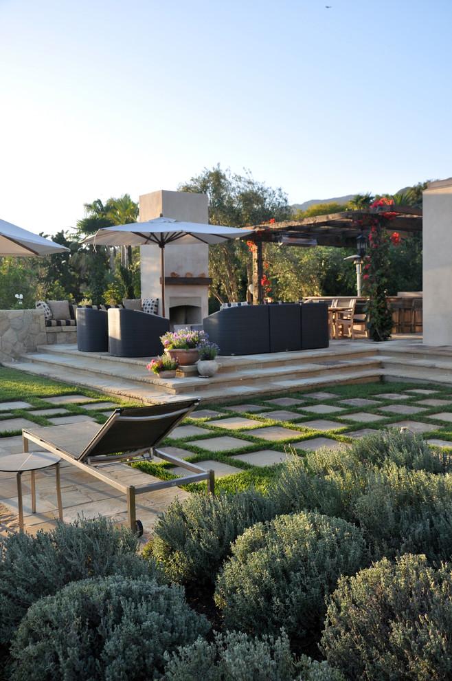 Contemporary Montecito Retreat - Mediterranean - Patio ... on Arcadia Backyard Designs id=22687