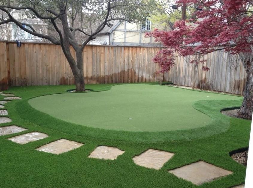 Dallas Backyard Putting Green - Traditional - Landscape ... on Putting Green Ideas For Backyard id=90360
