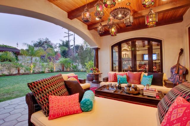Hermosa Beach Mediterranean / Moroccan - Interior Design ... on Moroccan Backyard Design  id=73403
