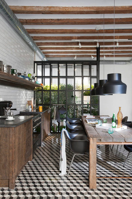 Sta Caterina Home. Living by the Market industrial-kitchen