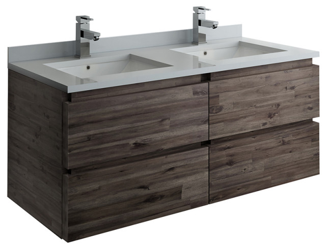formosa wall hung double sink modern bathroom cabinet with top sinks 48
