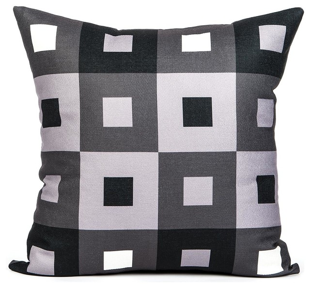 a pex black white and gray throw pillow cover