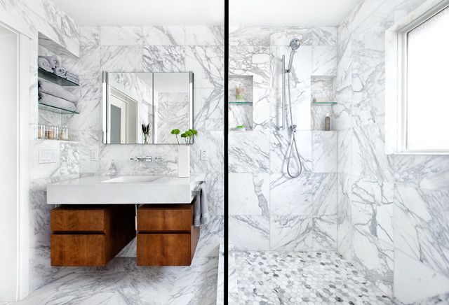 marble bath - contemporary - bathroom - austin - by cg&s design-build