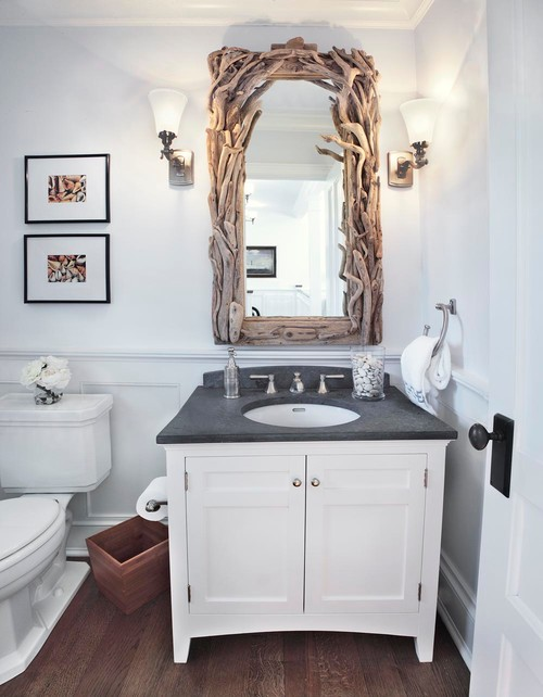 Beach Style Powder Room by Northport Architects & Building Designers ADL III Architecture