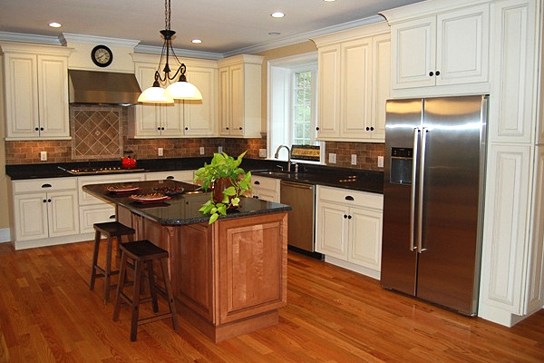 Maple Kitchen Cabinets | White Kitchen Cabinets | Carlton ... on Maple Cabinets With White Countertops  id=40422