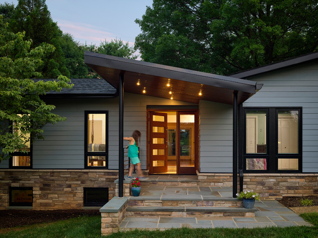 Modern Porch Midcentury Entry Baltimore By Place
