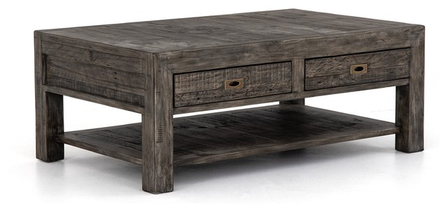 50 w paola coffee table mix reclaimed wood rustic black olive finish