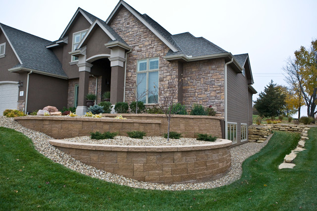 Tiered Retaining Walls - Traditional - Landscape - Other ... on Tiered Yard Ideas  id=48503