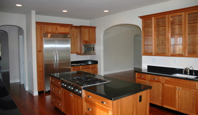Kitchen with Absolute Black granite countertops ... on Black Granite Countertops Kitchen  id=76883