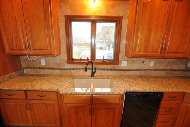 Granite Countertops and Tile Backsplash Ideas - Eclectic ... on Kitchen Backsplash Backsplash Ideas For Granite Countertops  id=83766