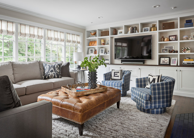 Classic Eclectic Summit Residence transitional-family-room