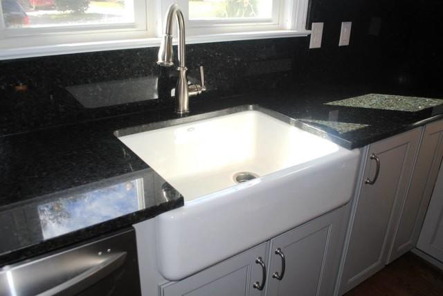 Uba Tuba Granite And Blackspash Kohler Whitehaven Sink Moen Brandtford Faucet