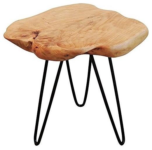 cedar wood stump small end table