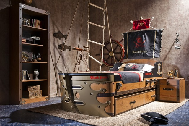 black pirate kids bedroom collection - eclectic - kids - miami