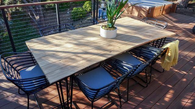 exo 8 seater rectangular dining table