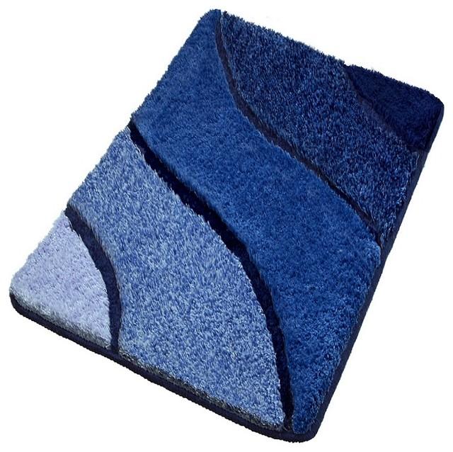 luxury bathroom rugs, blue bath rugs - contemporary - bath mats