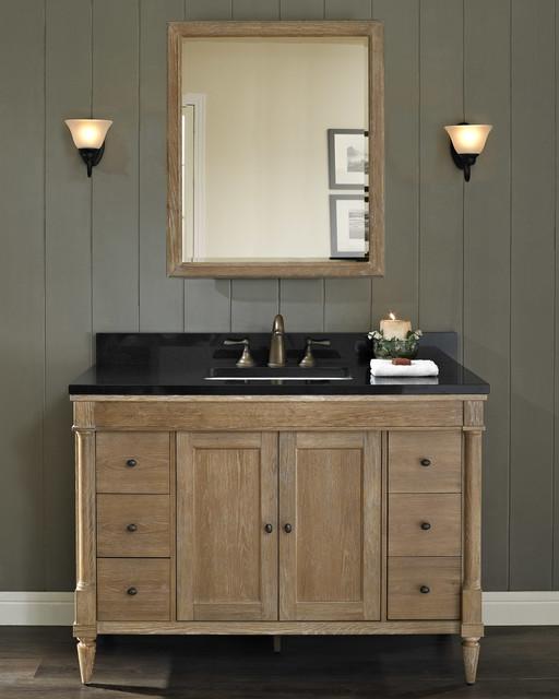 "fairmont rustic chic 48"" vanity - modern - bathroom - milwaukee"