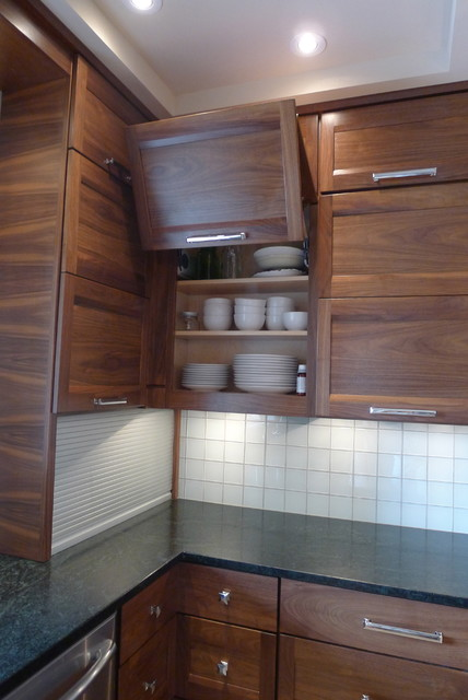 Walnut Horizontal Grain Kitchen Contemporary Kitchen