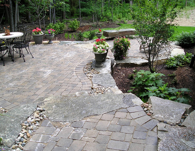 Raised Stone Patio on Pebble Patio Ideas id=49999