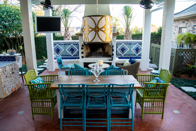 Mexican Inspired Old Metairie Residence on Mexican Backyard Decor id=75693