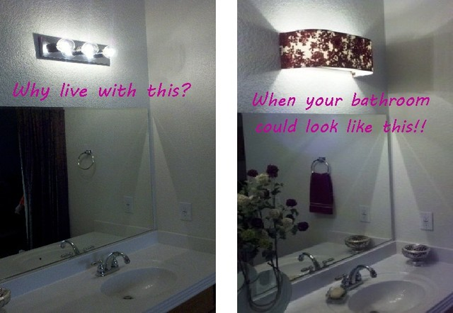 bathroom vanity light glass shades custom lampshades before after lampshade traditional lamp home depot