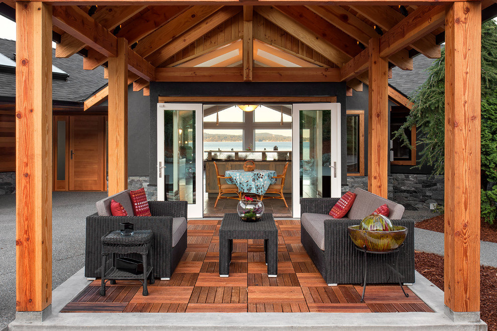 Outdoor Living Space - Rustic - Patio - Vancouver - by ... on Outdoor Living Ltd  id=74554