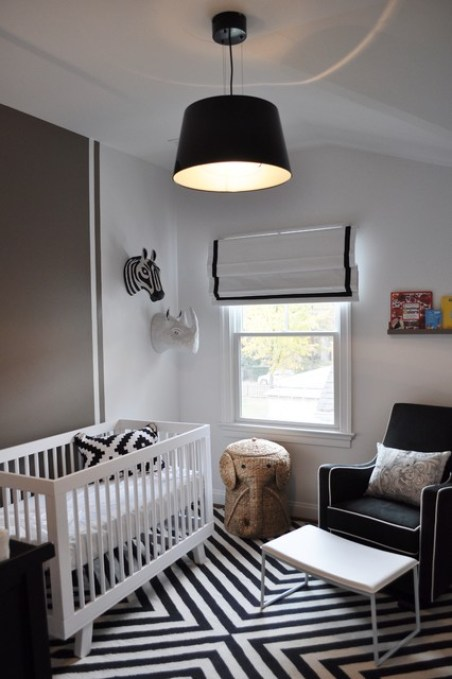 Black and White Nursery (Gender Neutral) by JWS Interiors transitional-kids