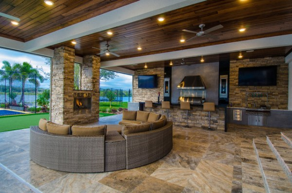 outdoor patio living areas Outdoor Living Addition - Contemporary - Patio - Tampa
