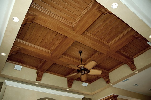 Faux Wood Graining Mediterranean Family Room Tampa