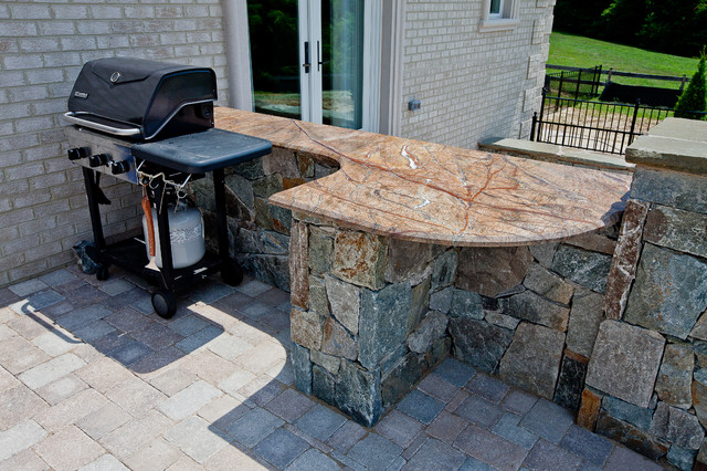 Rainforest Brown Outdoor Bar & Grill Area - Modern - Patio ... on Patio Grilling Area  id=66826