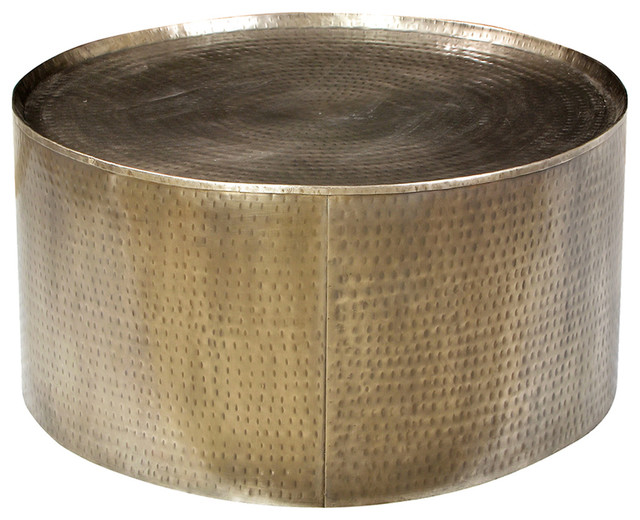 hammered brass coffee table