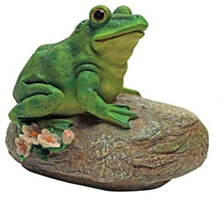 Design Toscano Frog Garden Rock Sitting Toad Statue