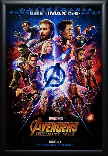 avengers endgame poster signed helowina