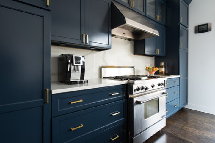 Navy Blue Kitchens That Look Cool And: Rich And Moody Cabinet Paint Colors + A Winner