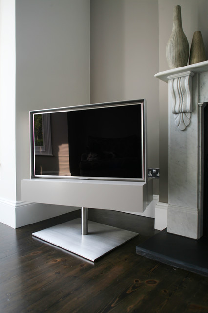Rotating Tv Cabinet Contemporary Living Room London