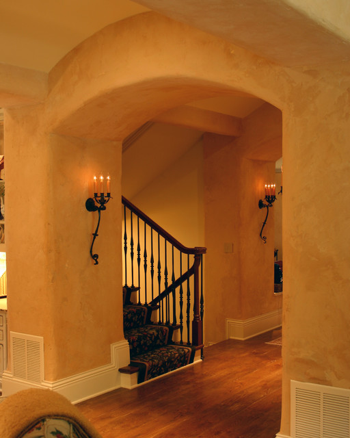 Country French Estate Hall To Stairwell