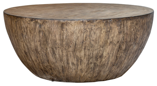 minimalist large round light wood coffee table modern geometric block